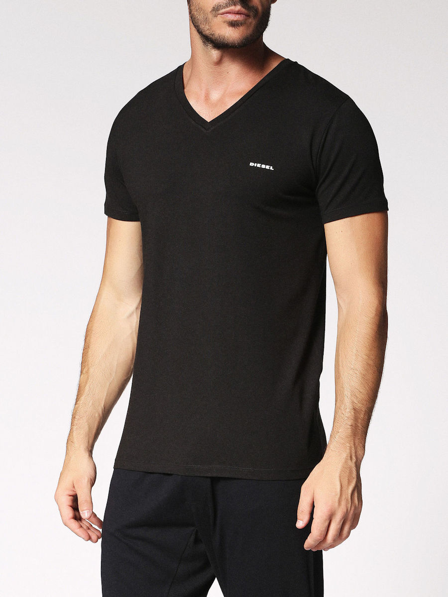 Gym / Street Wear :: T-Shirts :: Diesel MICHAEL Modal V-neck T-Shirt - black